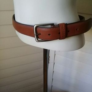 Columbia camel brown leather bonded belt Sz 32